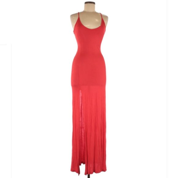 ASOS Red Sleeveless Maxi Modern Dress Size 2